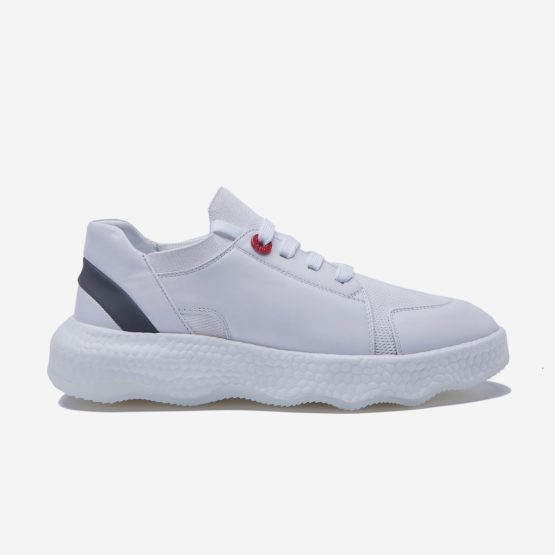 Casual Lace-Up Shoes White