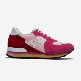 Women Lace-Up Suede Sneakers Rose