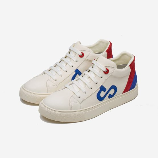 Casual High-Top Shoes White