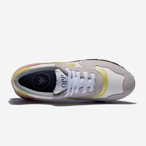 Women Lace-Up Suede Sneakers White