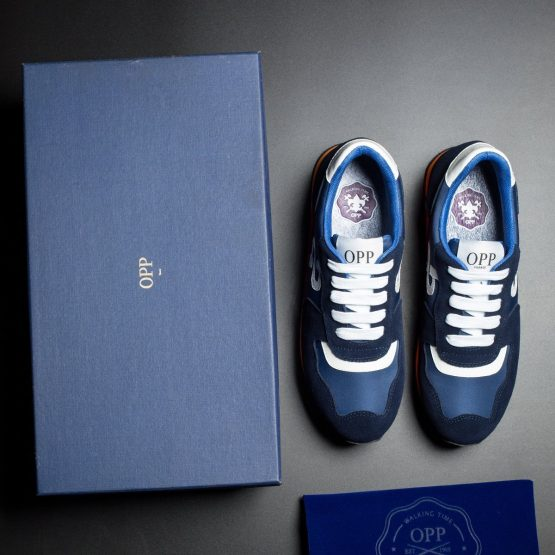 Women Lace-Up Suede Sneakers Blue