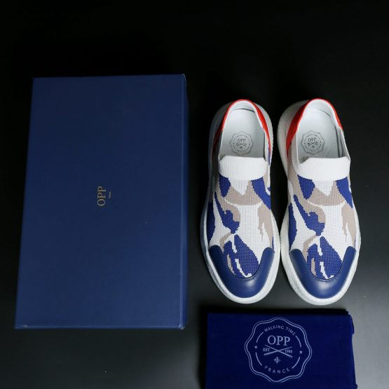 Casual Lace-Up Shoes Blue White