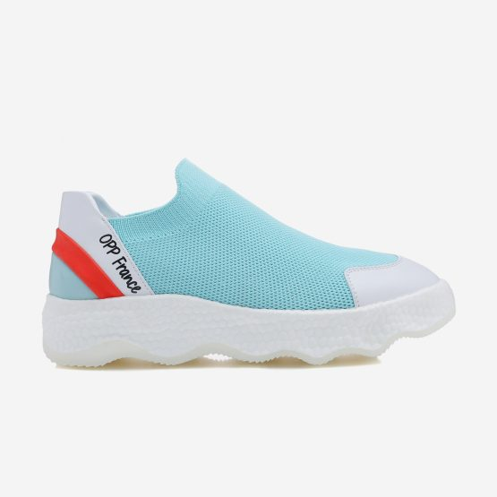 Women Casual Slip On Shoes Light Blue