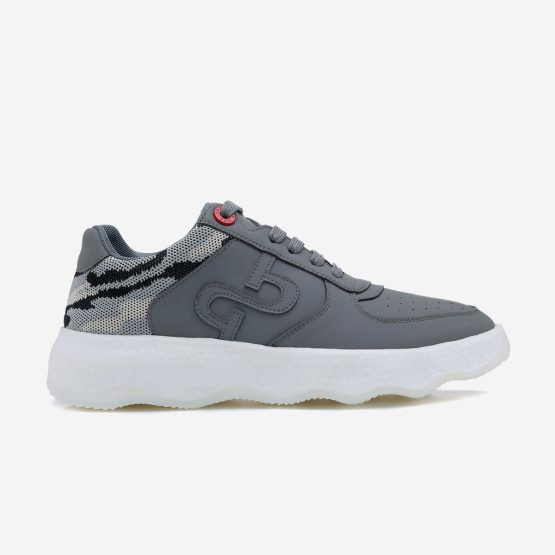 Casual Leather Shoes Grey