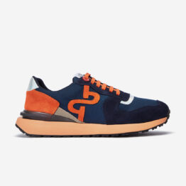Lace-Up Suede Sneaker Blue