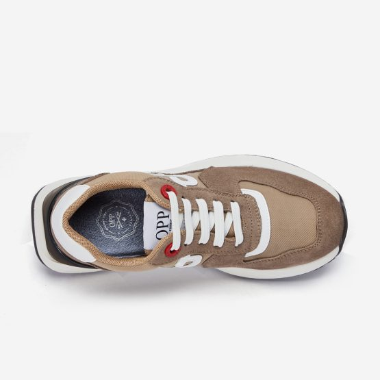 Women Lace-Up Suede Sneaker Khaki