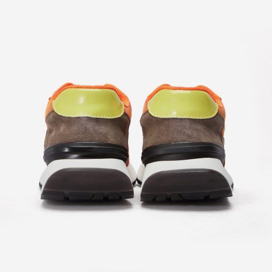 Women Lace-Up Suede Sneaker Orange