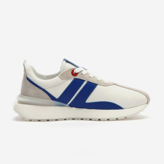 White Nylon Bumpr Sneakers