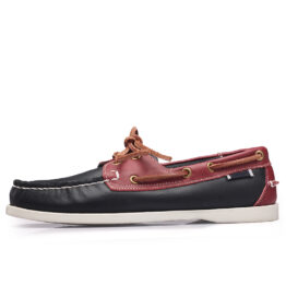 Men British Leather Shoes Red