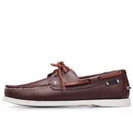Men British Leather Shoes Brown