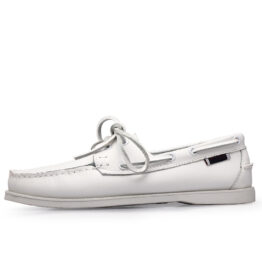 Men British Leather Shoes White