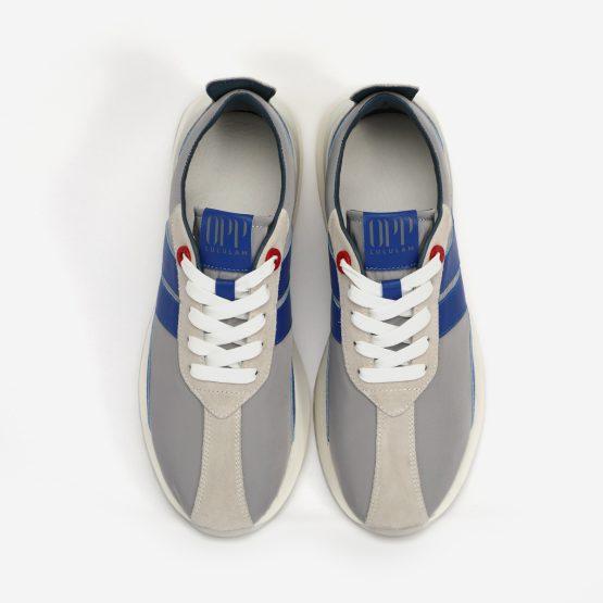 Light Gray Nylon Bumpr Sneakers