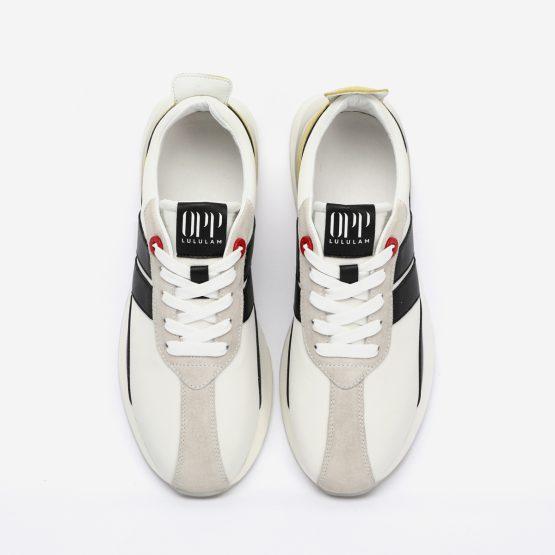 Red Nylon Bumpr Sneakers