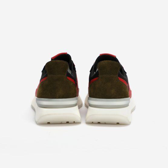 Black Red Nylon Bumpr Sneakers