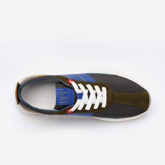 Dark Gray Nylon Bumpr Sneakers
