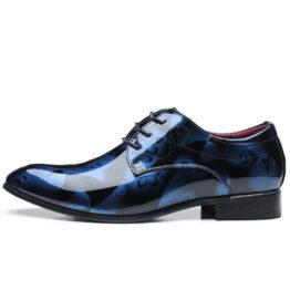 Men British Leather Shoes Blue