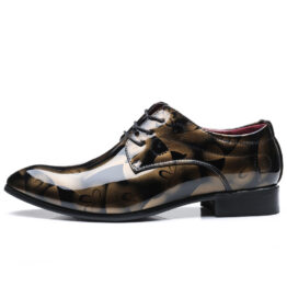 Men British Leather Shoes Yellow