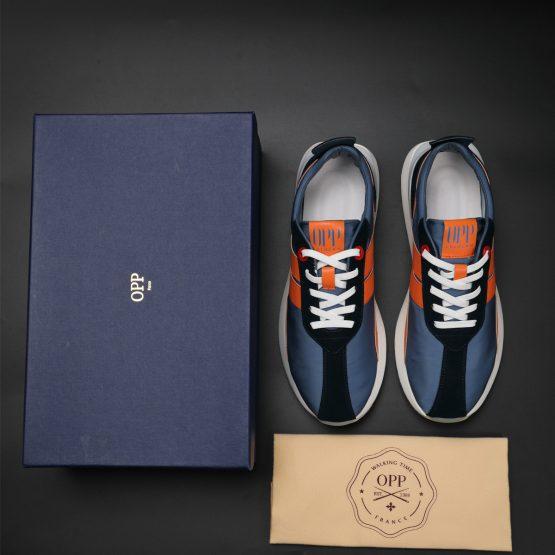 Blue Nylon Bumpr Sneakers