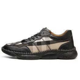 Men Vintage Leather Shoes White