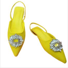 Women Flat Sandals Yellow