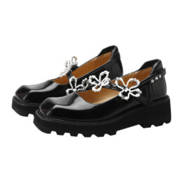 Women Flower Vintage Leather Shoes