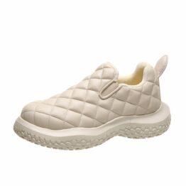 Women Plus Fleece Sneakers White
