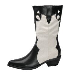 Women Pointed Martin Boots White