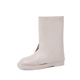 Women Bell-bottom Boots White
