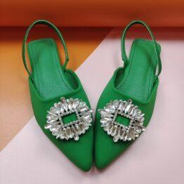 Women Flat Sandals Green